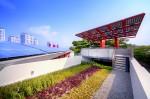 Mái nhà cây xanh Bên cạnh việc che chắn ánh nắng mặt trời trực tiếp, có thể hấp thụ một lượng lớn năng lượng mặt trời mái nhà cây xanh có thể hoạt động như vùng giữ nước mưa và tạo vi kthí hậu mát mẻ.