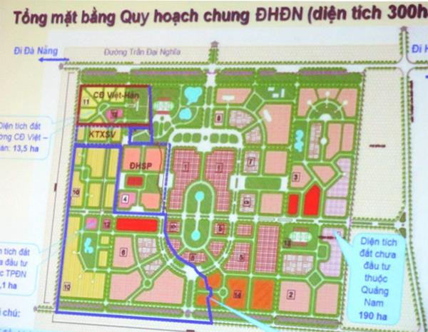 Thực hiện quy hoạch, xây dựng làng Đại học Đà Nẵng