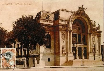 Nhà hát lớn Sài Gòn xưa. Ảnh trong bài nguồn Internet