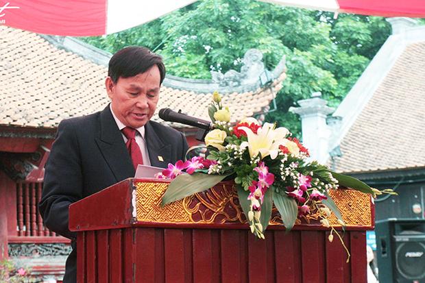 KTS Nguyễn Tấn Vạn - Chủ tịch Hội KTS Việt Nam phát biểu tại Lễ trao Giải thưởng Loa Thành lần thứ 25.