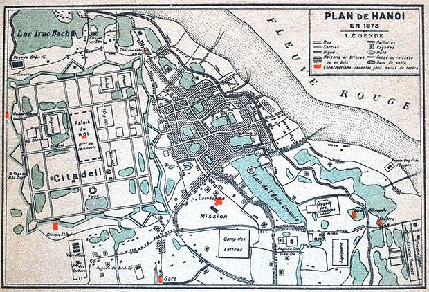 Bản đồ quy hoạch Hà Nội 1873