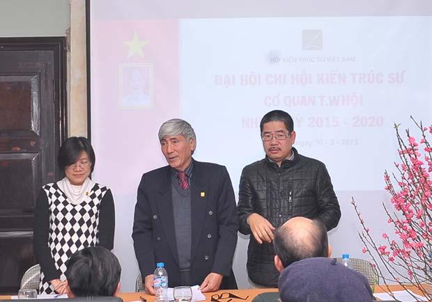 Ban chấp hành Chi hội KTS cơ quan TW Hội : KTS Nghiêm Hồng Hạnh , KTS Phạm Thanh Tùng, KTS Ngô Tuấn Trung