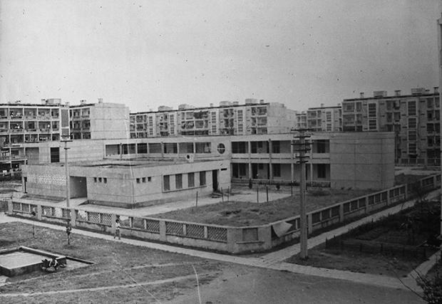 Toàn cảnh Khu nhà ở Thanh Xuân Bắc được thi công theo phương pháp lắp ghép bê tông tấm lớn đúc sẵn do VNCC thiết kế