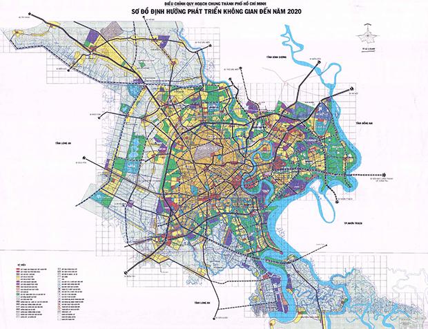 Bản đồ quy hoạch chung TP HCM đến năm 2020