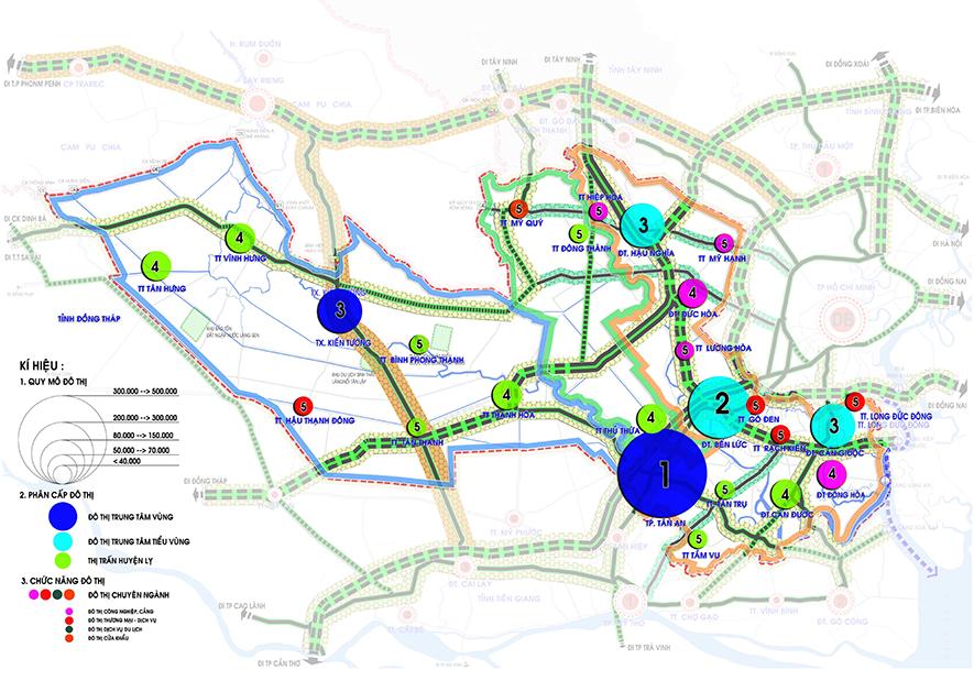 Định hướng phát triển hệ thống đô thị tỉnh Long An đến 2030