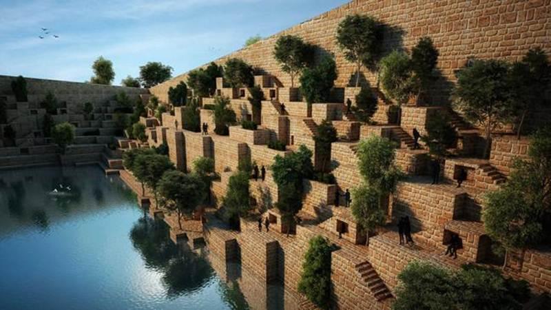 Tòa nhà văn phòng Reservoir, Rajasthan, Ấn Độ sẽ được xây dựng bên cạnh hồ nước và phủ đầy cây xanh.