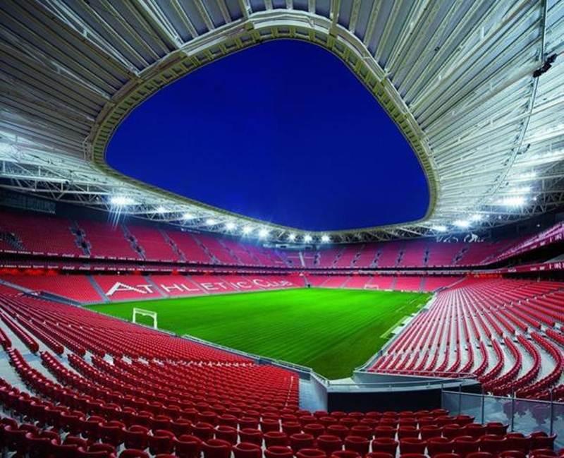 Sân vận động San Mames hoành tráng, ấn tượng ở Biscay, Tây Ban Nha.