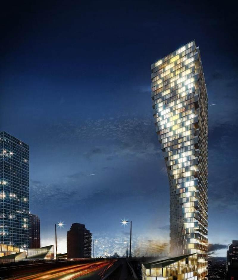 Toàn nhà Vancouver với kiến trúc hiện đại dành cho các cư dân ở Vancouver, Canada.
