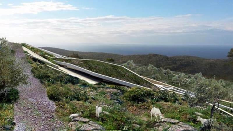 Công trình kiến trúc tương lai lý tưởng của Croatia là một ngôi nhà xây dựng trên đồi bằng cách tận dụng trang trại sẵn có.