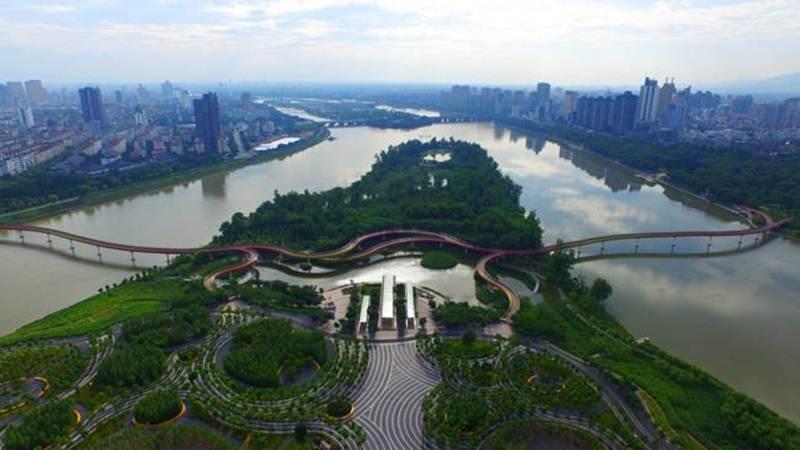 Công viên Yanweizhou, Trung Quốc là giải pháp tuyệt vời cho công trình kiến trúc tương lai để quản lý lũ lụt quy mô lớn và có thể nhân rộng ra nhiều nước trên thế giới.