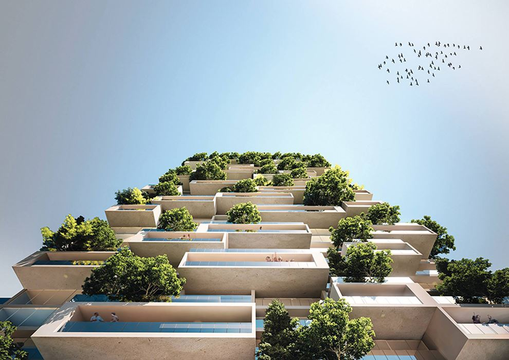 Những căn hộ cao tầng sẽ được bao phủ bởi nhiều cây xanh
