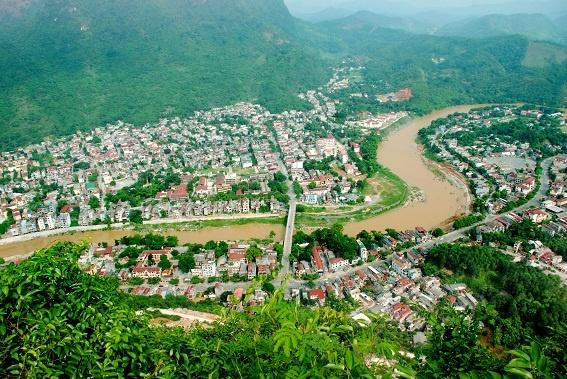 Không gian đô thị trung tâm tỉnh Hà Giang.