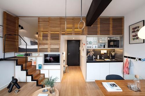 Chuỗi khách sạn Zoku (Hà Lan) mời các kiến trúc sư của Concrete Studio thiết kế một căn hộ khép kín với mục đích cho thuê dài hạn.