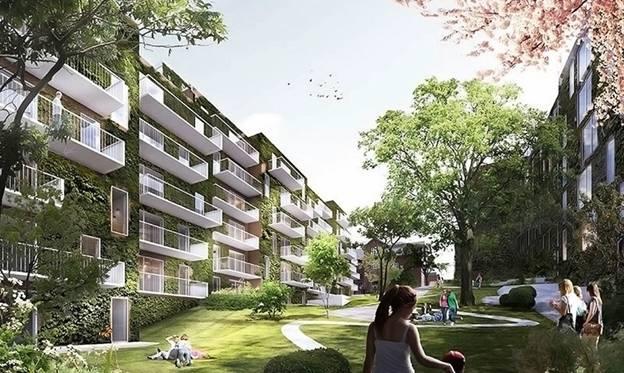 Khối dân cư đô thị Valdemars Have sẽ diễn giải lại các khái niệm về nhà phố bằng gạch đỏ cũ và tạo ra một khu vườn công cộng đô thị độc đáo.