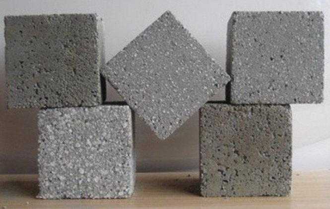 Bêtông cách nhiệt làm từ xốp tái chế - Ảnh: Green Building Elements