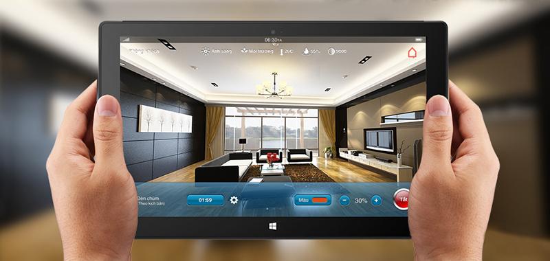 Nhà thông minh Bkav SmartHome kết nối tất cả các thiết bị trong ngôi nhà thành một hệ thống mạng, để có thể điều khiển chúng theo các kịch bản thông minh.