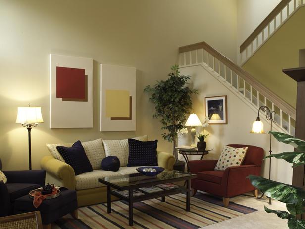 Phòng khách - nội thất phòng khách với công thức phối màu 60 - 30 - 10.