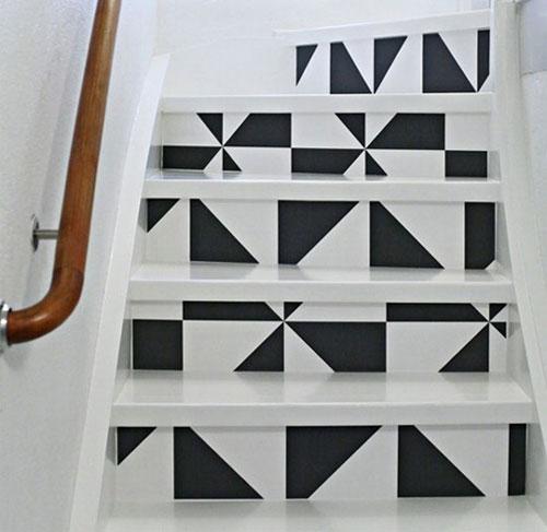 """Những họa tiết hình học màu đen trắng ngẫu nhiên nhưng đủ để làm mọi người """"vừa ngắm vừa đi"""""""