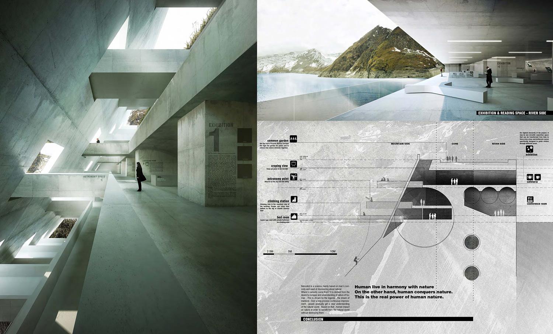 Special Mention 'Opération Béton: Nature Interpretatation Center of the Alps' Le Quang; Hoang Phuong Lien (VIETNAM)