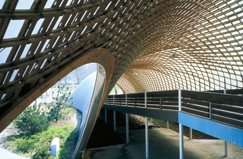Roof for the Multihalle (multi-purpose hall) in Mannheim, 1970–1975,  Mannheim, Germany . Image © Atelier Frei Otto Warmbronn