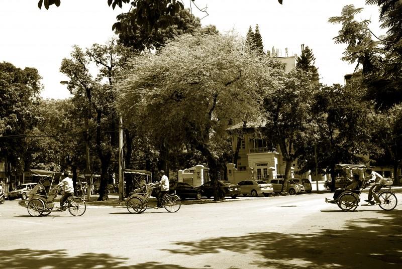 Xích lô chở khách du lịch dạo quanh Phố cổ (ảnh: Trần Trọng Tỉnh)