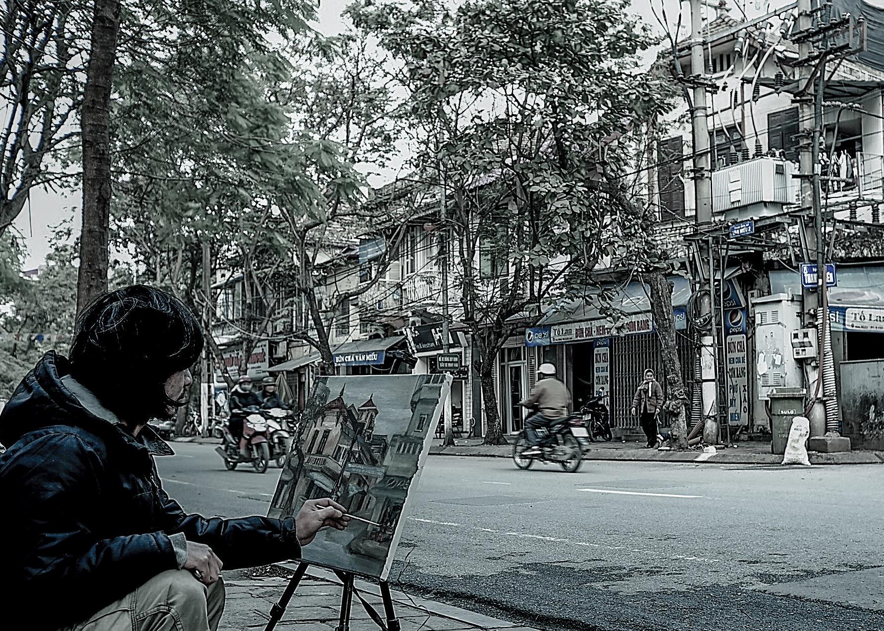 Hà Nội sống chậm Ảnh: Trần Trọng Tỉnh