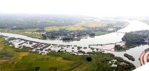Ngã 3 sông sông Tam Kỳ, sông Bàn Thạch và sông Trường Giang.