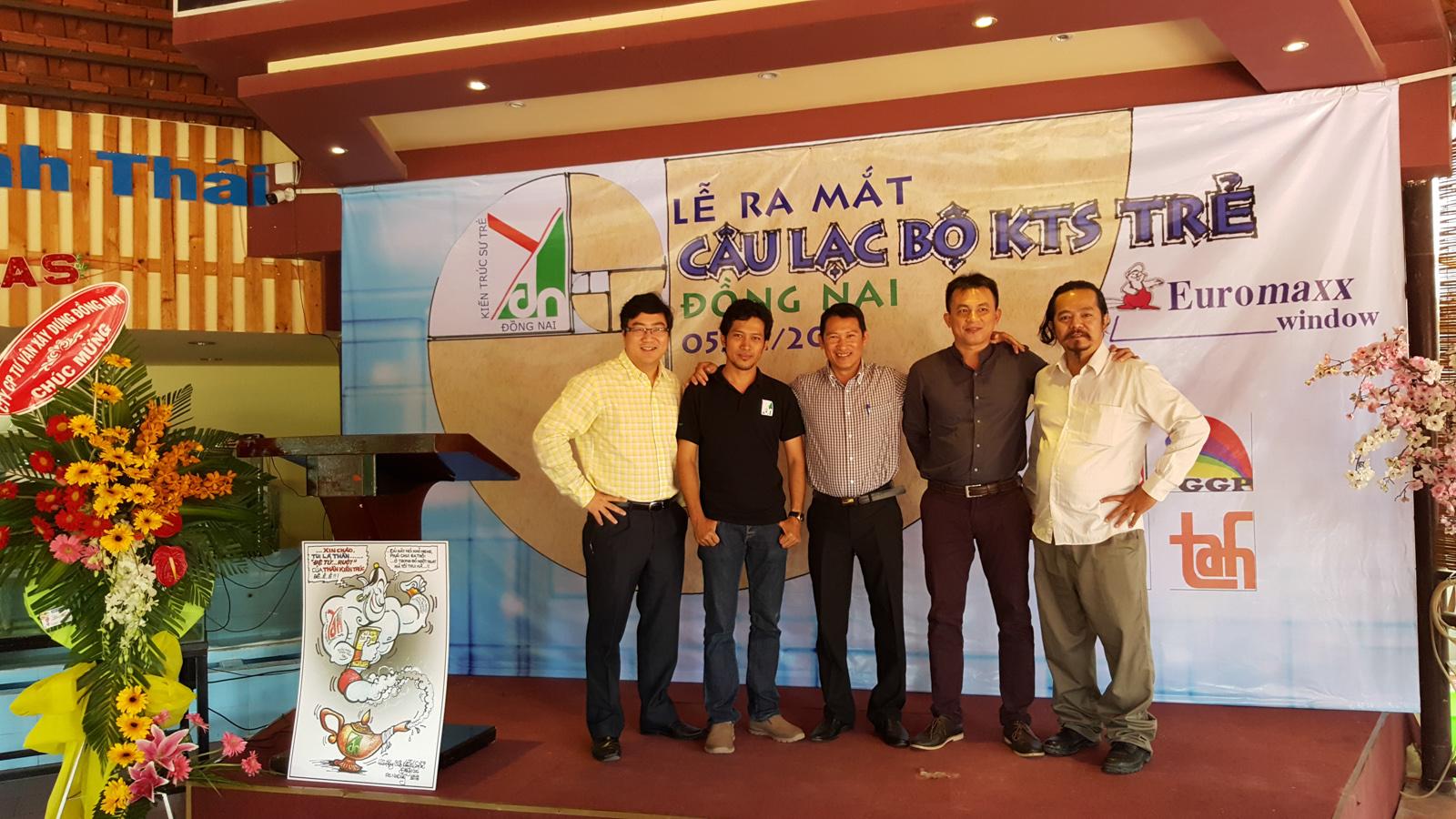 Ban điều hành CLB KTS trẻ toàn quốc tham dự Lễ ra mắt CLB KTS trẻ Đồng Nai