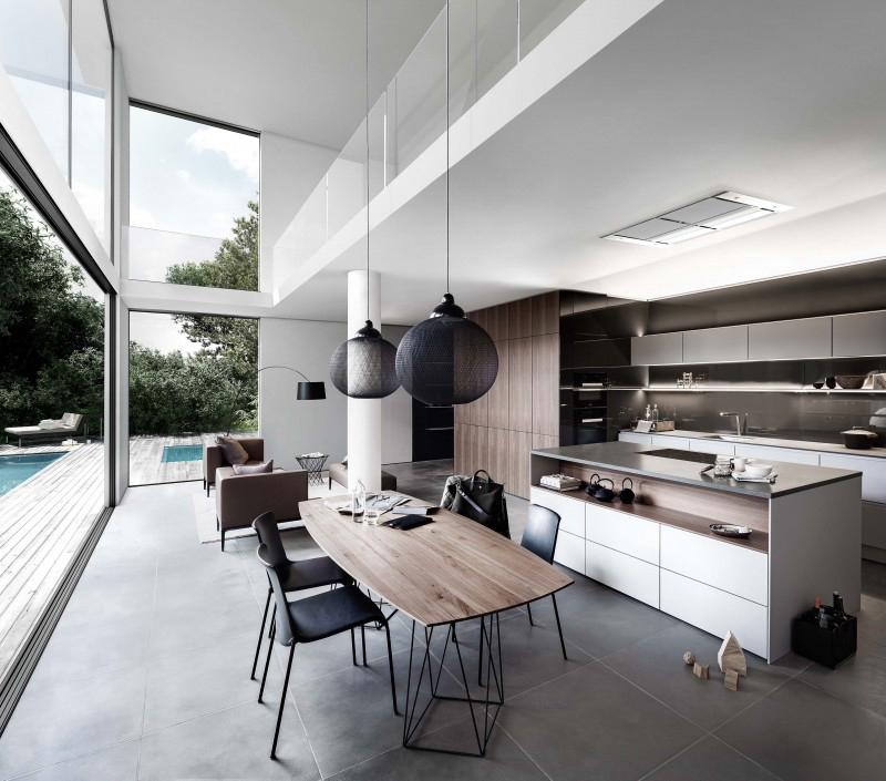 Bếp mở tăng khả năng tương tác với không gian khách và ăn (thiết kế của SieMatic)