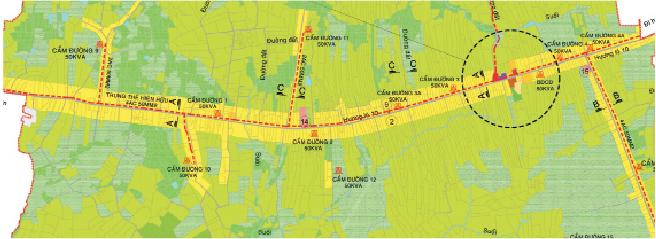 Phát triển khu dân cư nông thôn chủ yếu bám theo tuyến giao thông chính, làm hạn chế các tính năng của một khu công trình công cộng bố trí tập trung (Quy hoạch Xã Cẩm Đường, Huyện Long Khánh, Tỉnh Đồng Nai)