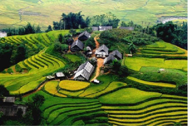 Nhà ở nông thôn vùng núi phía Bắc - bức tranh đẹp hài hòa với thiên nhiên