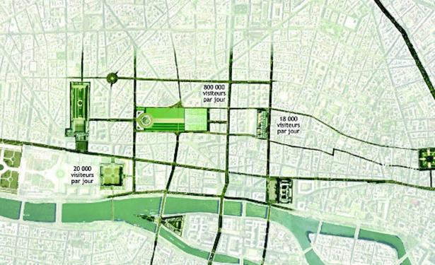 Hình3: thiết kế tổng thể khu Les Hales –Paris