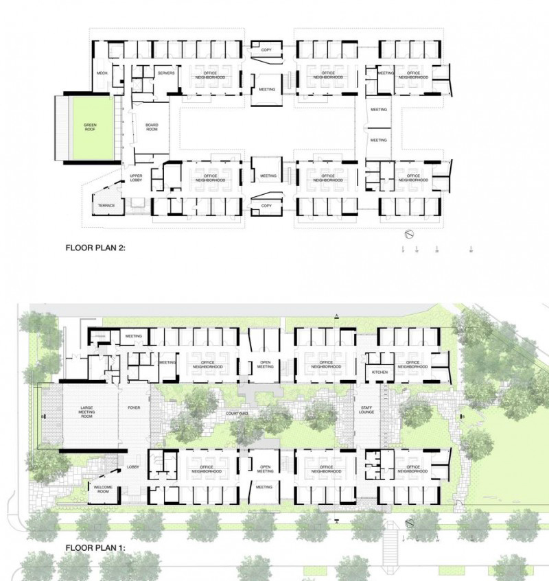 Ground and Second Floor Plans - Photo Credit EHDD