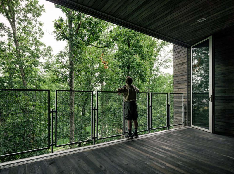 Indoor spaces are immersed within the forest canopy and rely on natural cooling and foliage for shading. - Photo Credit Photography by Joe Fletcher
