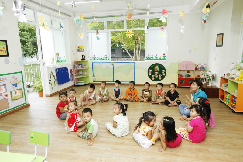 Trường mầm non trong KCN Long Hậu