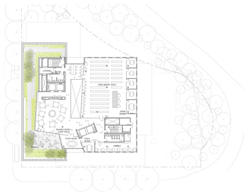 t2 51f84298e8e44e3ef7000130_john-and-frances-angelos-law-center-behnisch-architekten_level_12_plan-1000x790