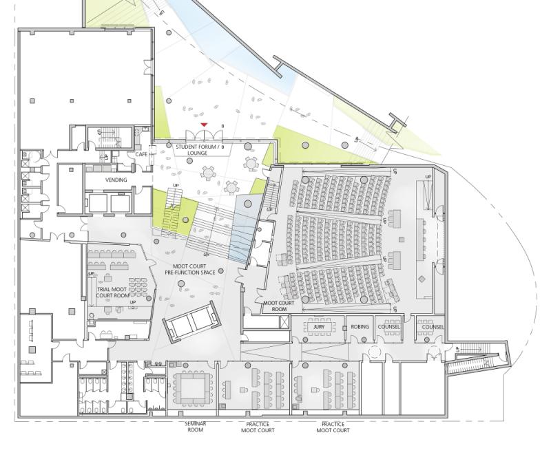 t3 51f84221e8e44e3ef700012e_john-and-frances-angelos-law-center-behnisch-architekten_garden_level_plan-1000x830