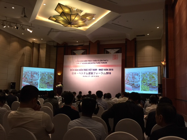 Đông đảo đại biểu tham dự Diễn đàn Kiến trúc Việt Nam - Nhật Bản 2016.