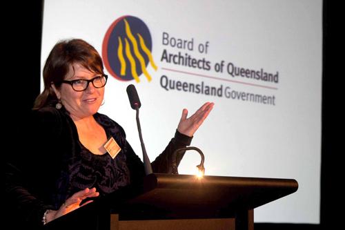 KTS Susan Savage phát biểu tại Hội nghị Hội đồng Kiến trúc bang Queensland
