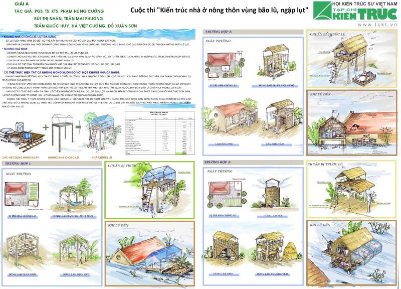 Sống cùng Lũ Lụt, nhà chống lũ lụt đa năng Hương Khê, Vũ Quang, Hà Tĩnh
