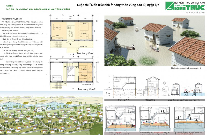 Nhà ở nông thôn vùng bão lũ Vùng Bắc Trung Bộ