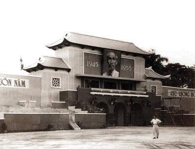 Lễ đài Ba Đình xây dựng năm 1955