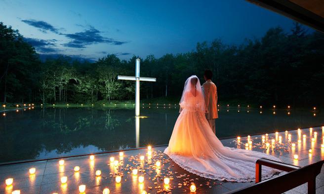 Một đám cưới tại Nhà thờ trên nước do Taodao Ando thiết kế