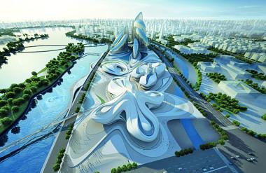 13. Trung tâm văn hóa nghệ thuật Changsha Meixihu ở Trung Quốc, Zaha Hazid