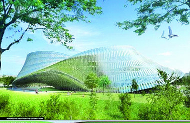 14. Trung tâm văn hóa Thành phố Đài Trung- Đài Loan: Lấy ý tưởng từ dải Moebius.