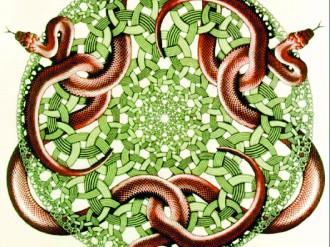 """5. Bức tranh """"Con rắn"""" của M.C.Escher lấy cảm hứng từ các nút"""