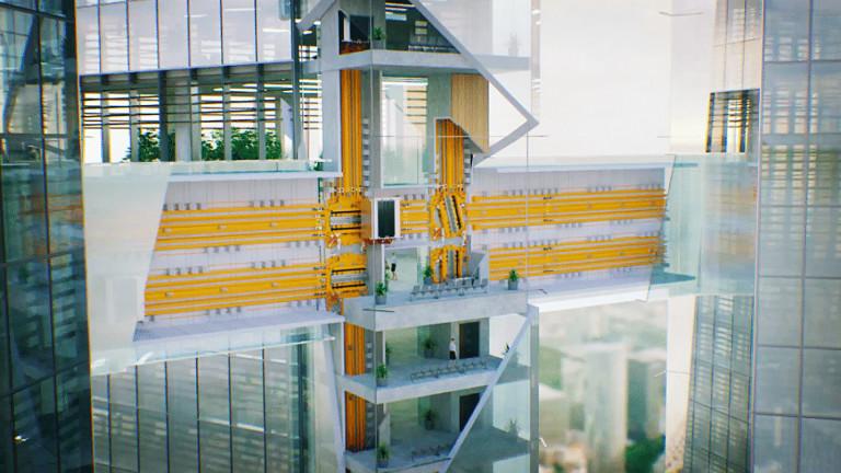 Thang máy không dùng cáp, di chuyển cả 2 phương đầu tiên trên thế giới