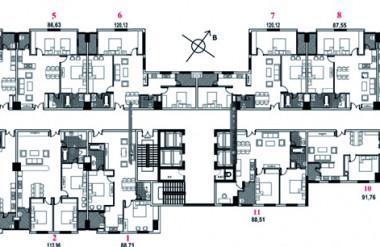 Căn hộ hướng ngoại – CCCT Saphire Palace (Nguồn: Your House)