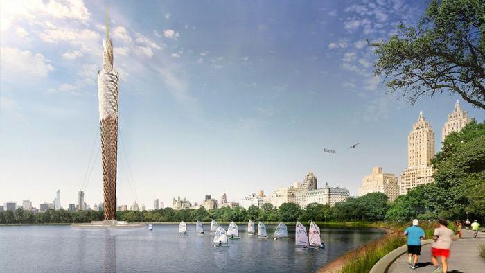 Tòa tháp gỗ có khả năng làm sạch nước ô nhiễm ở New York