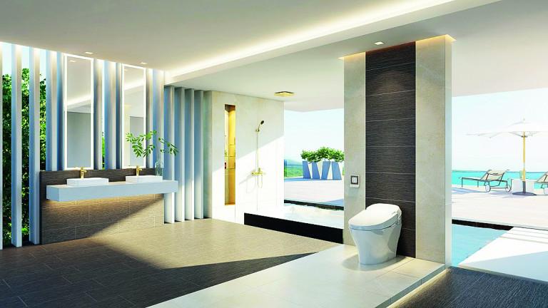 Thiết bị vệ sinh thông minh trong không gian phòng tắm hiện đại